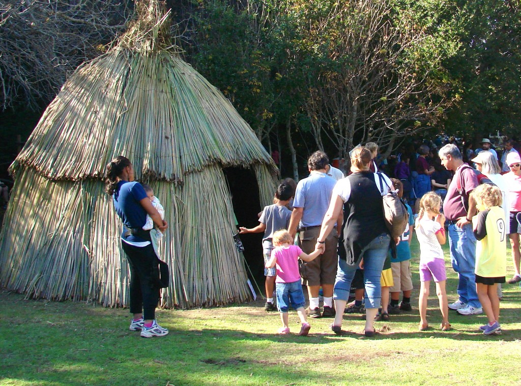 Ohlone Day sleeping hut
